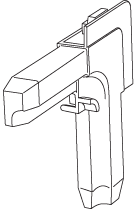 CB8AEXT Spring-Loaded Corner Key